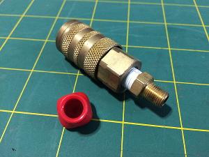 Industrial Interchange to Schrader Fitting Adapter